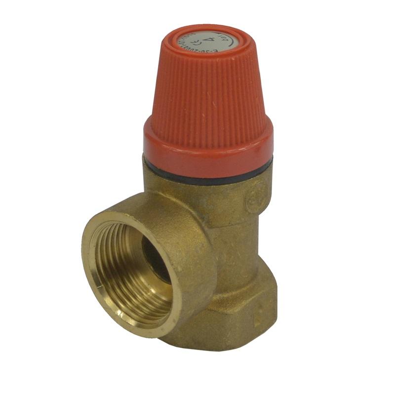 Pojišťovací ventil pro bojler s pevně nastaveným tlakem 6 bar, 1