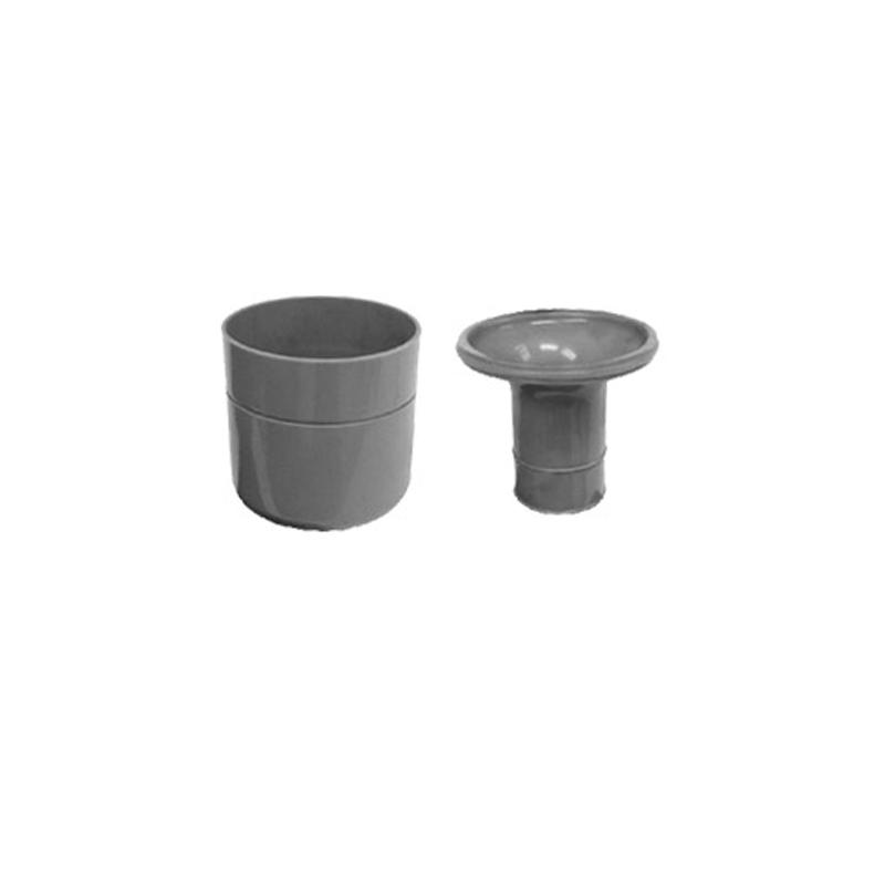 Čistící kus snížený pro sifon žlabu, plastový (CZ06)