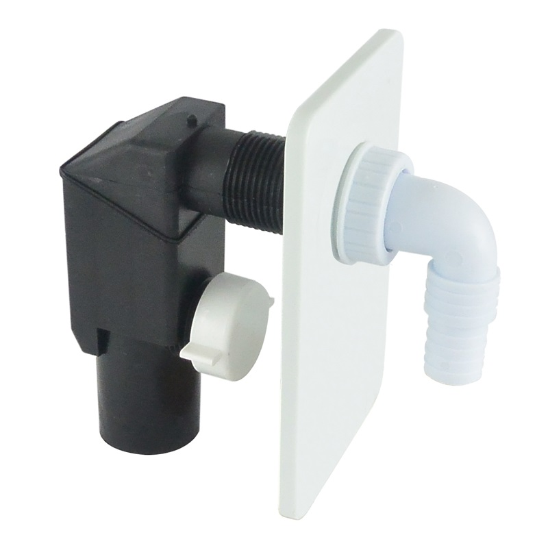 Sifon pračkový podomítkový ø 40/50 mm, bílý, plast (PR7010C)