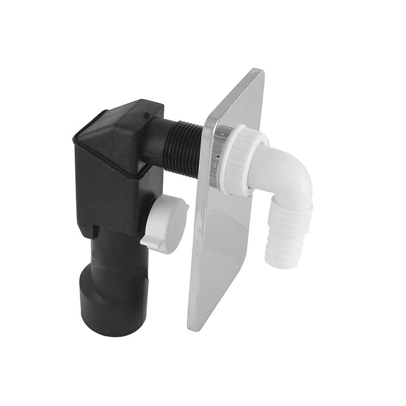 Sifon pračkový podomítkový ø 40/50 mm, chromovaný plast (PR7011C)