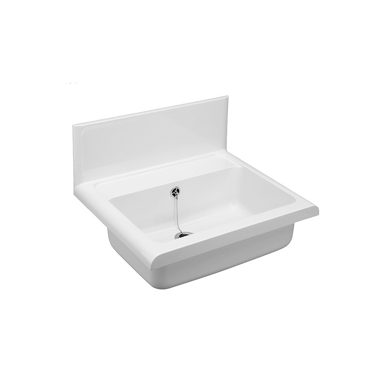 Umyvadlo Compact plastové, s příslušenstvím, bílé, vysoce odolné (PR7183C (60009010099))