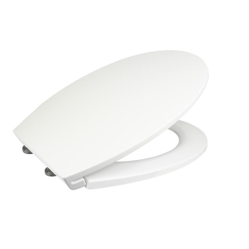 Samozatváracie WC sedátko slim, z duroplastu, biele, s odnímateľnými pánty CLICK