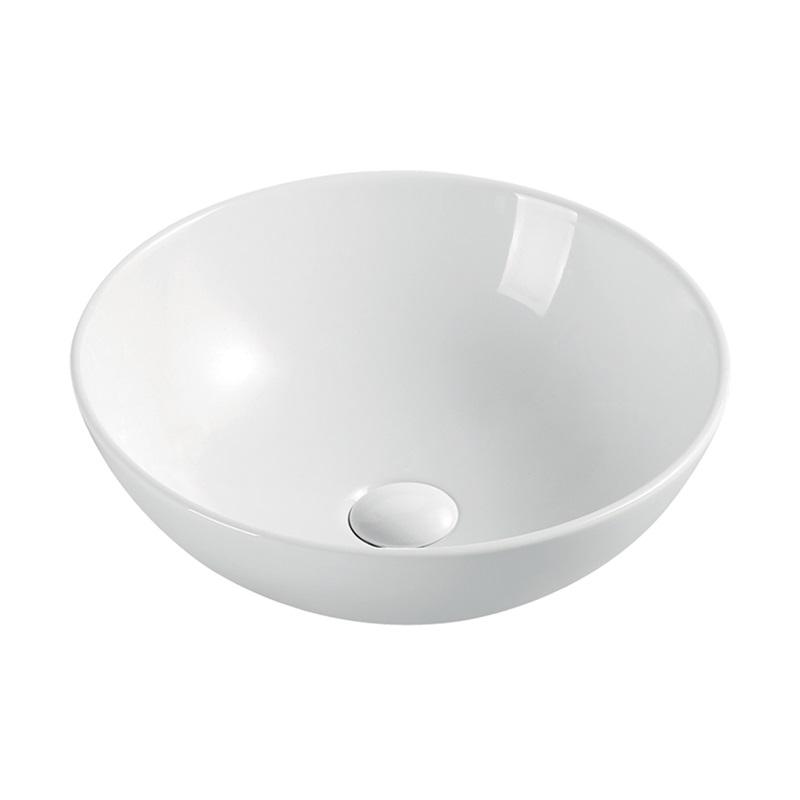Umyvadlo na desku bez přepadu, 400x400x145 mm, kulaté, keramické (UC404015C)