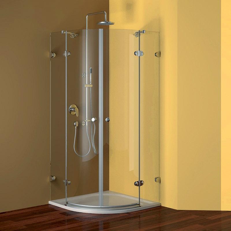 Sprchový kút, Fantasy, štvrťkruh, 90 cm, R550, chróm. profily, sklo Číre