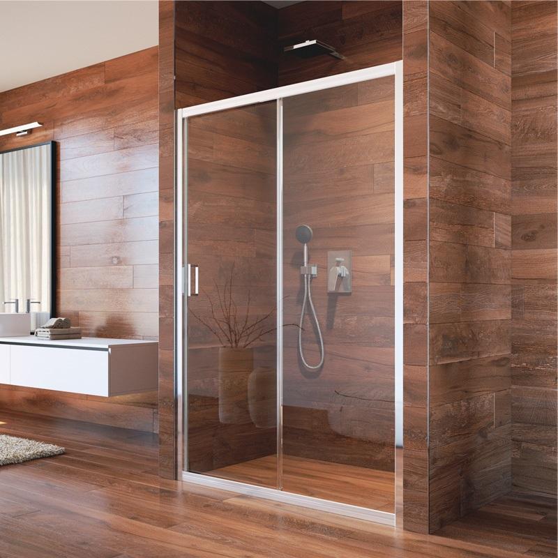 Sprchové dvere, LIMA, dvojdilene, zasúvacie, chróm ALU