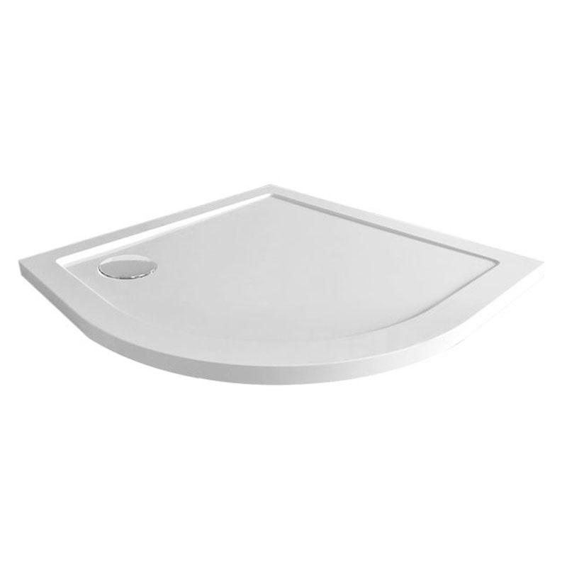 Čtvrtkruhová sprchová vanička R550, 90x90x4 cm, SMC, bílá, včetně sifonu (CV01NS)
