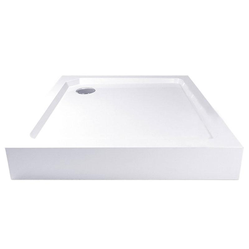 Štvorcová sprchová vanička, SMC, biela