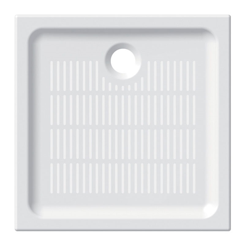 Čtvercová sprchová vanička, 80x80x6,5 cm, keramická (CV77X)