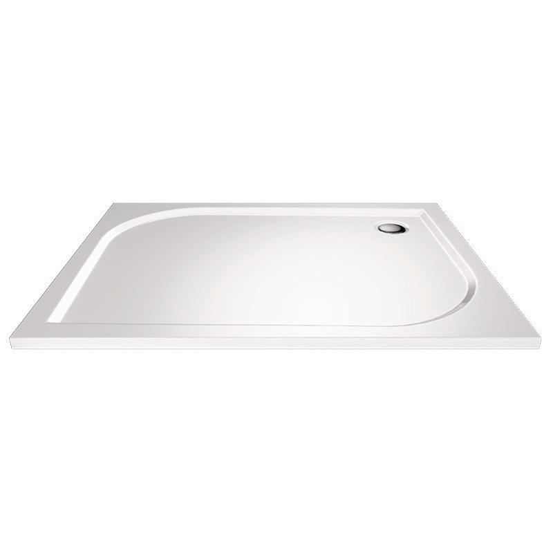 Obdĺžniková sprchová vanička, 90x80x3 cm, bez nožičiek, liaty mramor