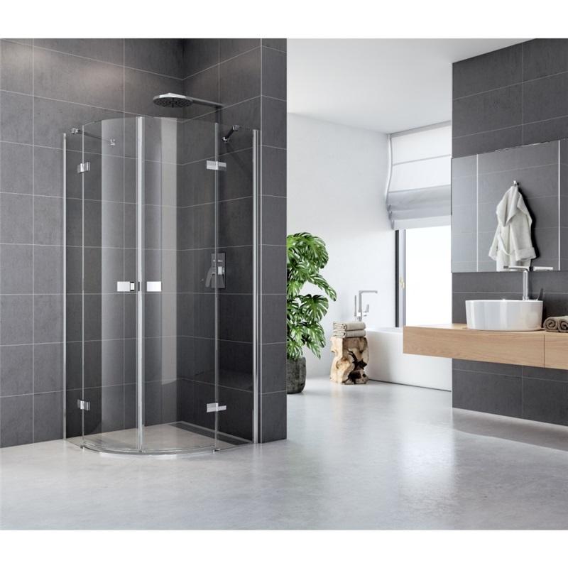 Sprchový kút, Fantasy, štvrťkruh, 90 cm, R550, chróm ALU, sklo Číre