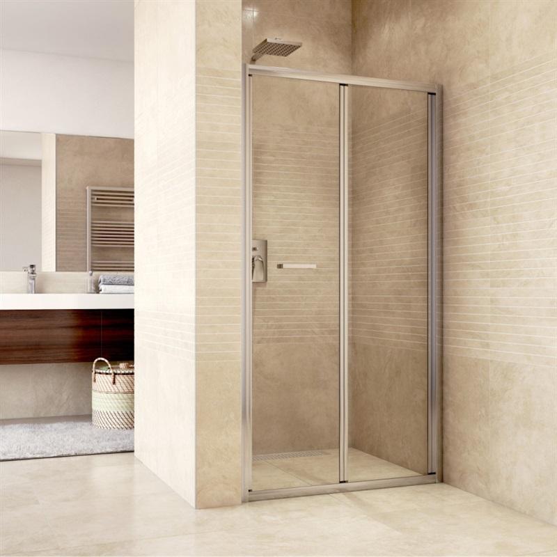 Sprchové dvere zalamovacie, Mistica, chróm ALU