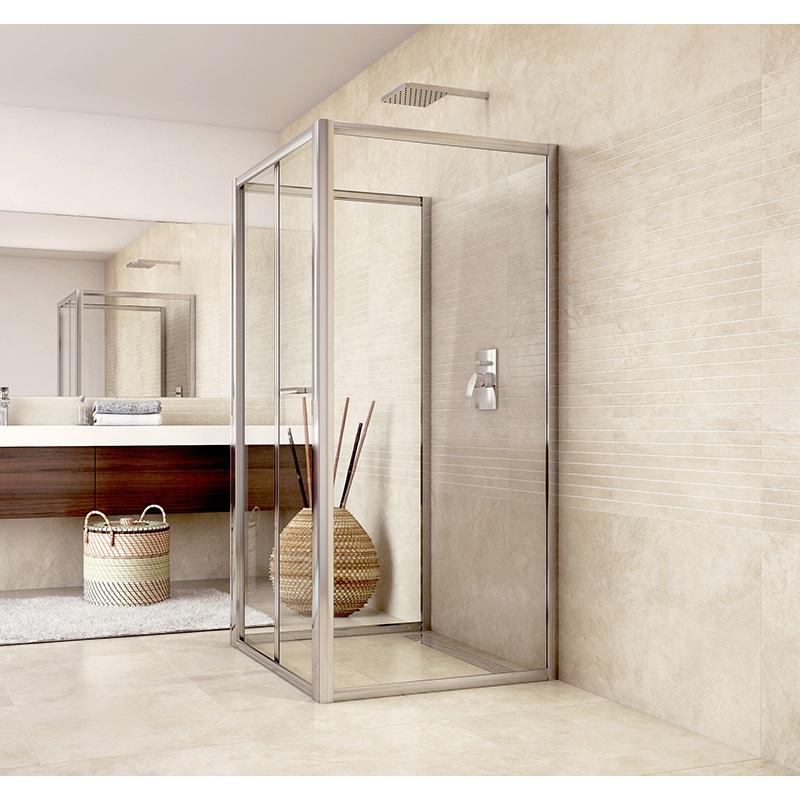 Sprchovací kút do priestoru, Mistica, štvorec, chróm ALU, výška 190 cm