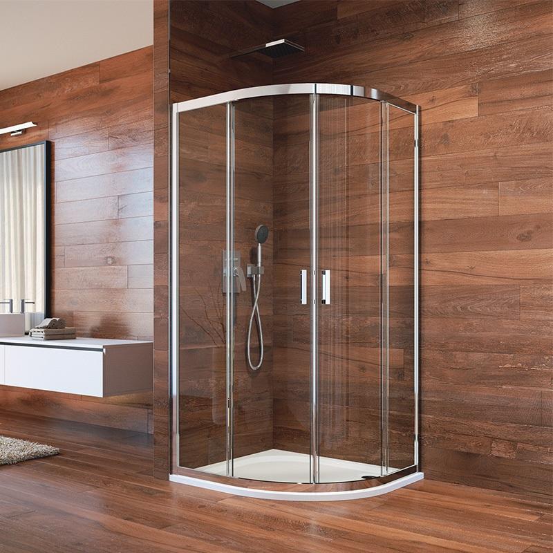 Sprchovací kút, LIMA, štvrťkruh, chróm  ALU