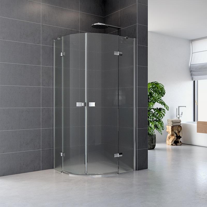 Sprchový kút, Fantasy, štvrťkruh, 90 cm, R550, chróm ALU, sklo Point