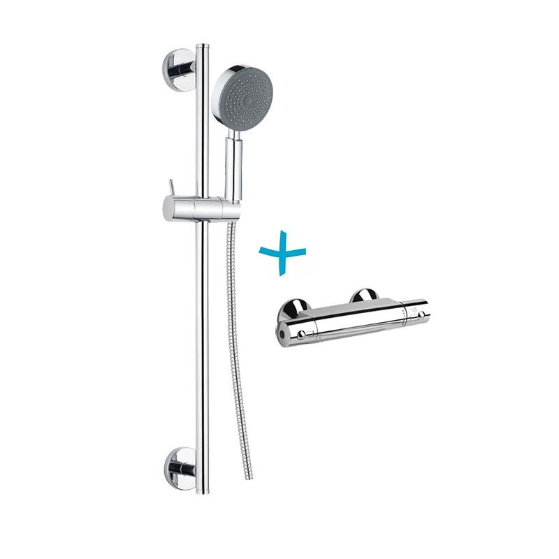 Sprchový set: termostatická baterie + sprch. souprava CB900C (BTS01)