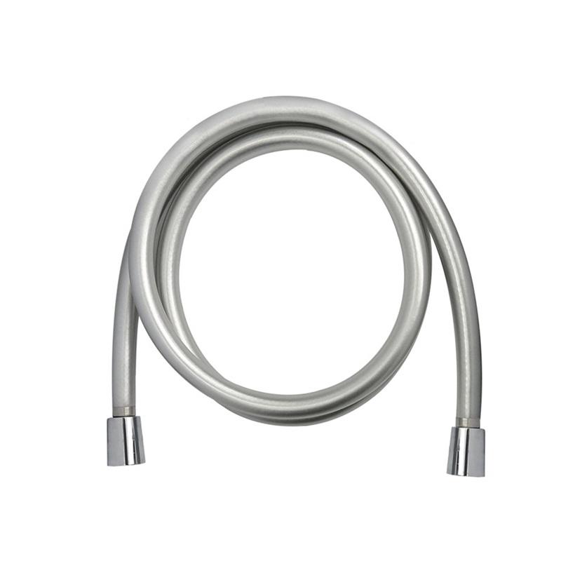 Sprchová hadica šedostrieborná, systém zabraňujúci prekrúteniu