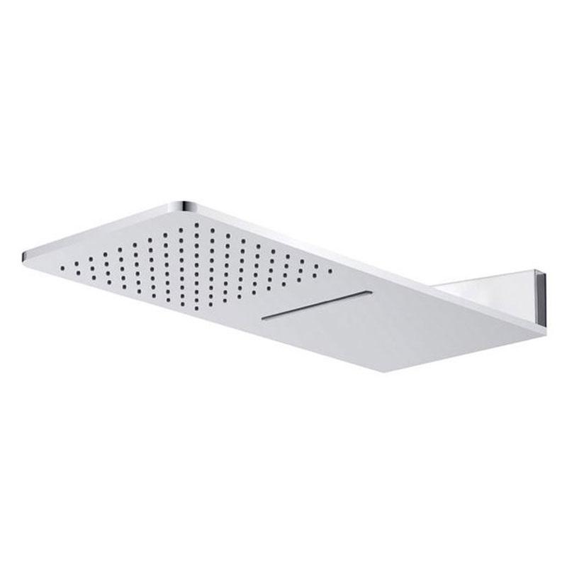 Tanierová sprcha horná, s vodopádom, hranatá 600x251mm, nerez