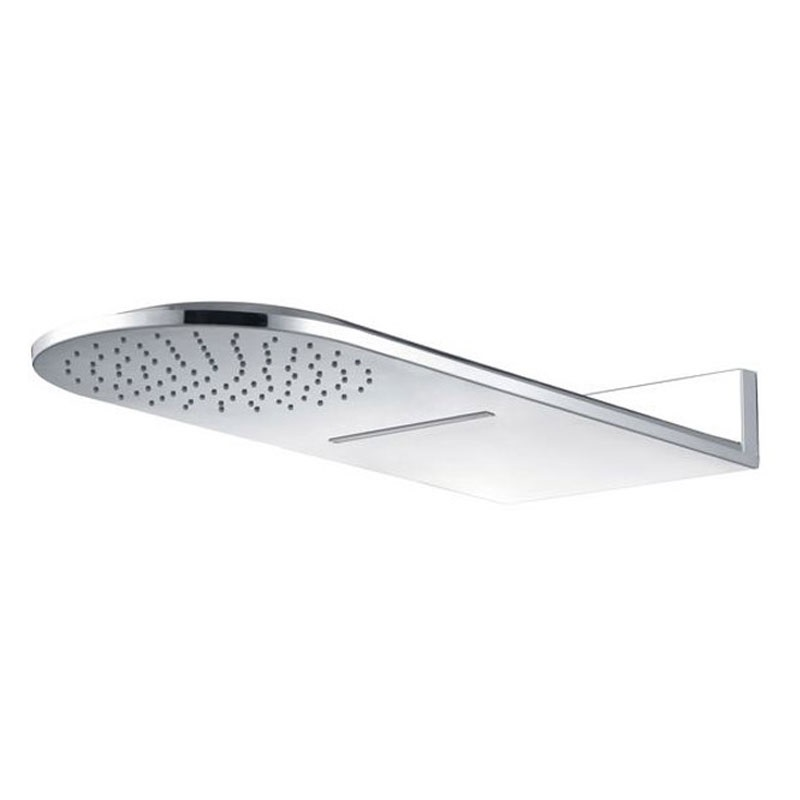 Tanierová sprcha horná, s vodopádom, pologuľatá 600x251mm, nerez