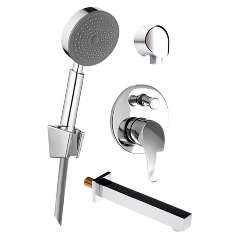 Vaňový set: sprchová podomietková batéria, vaňové hubica, ručná sprcha, stenový vývod