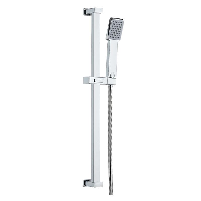 Sprchová souprava, jednopolohová sprcha, posuvný držák, dvouzámková nerez hadice (CB900J)