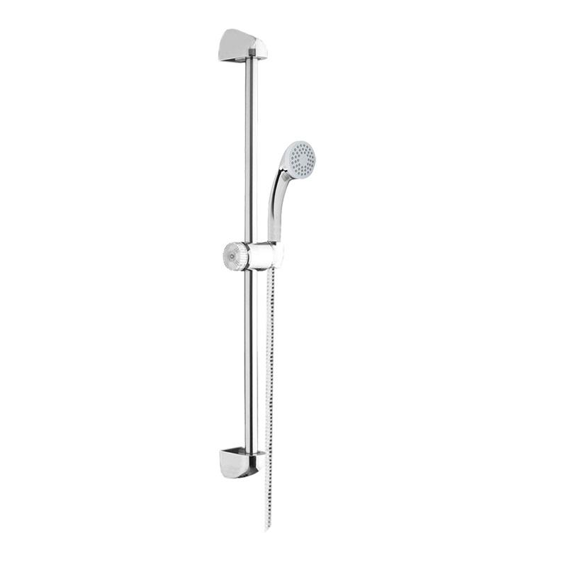 Sprchová súprava, jednopolohová sprcha, sprchová hadica, nastaviteľný držiak, plast/chróm