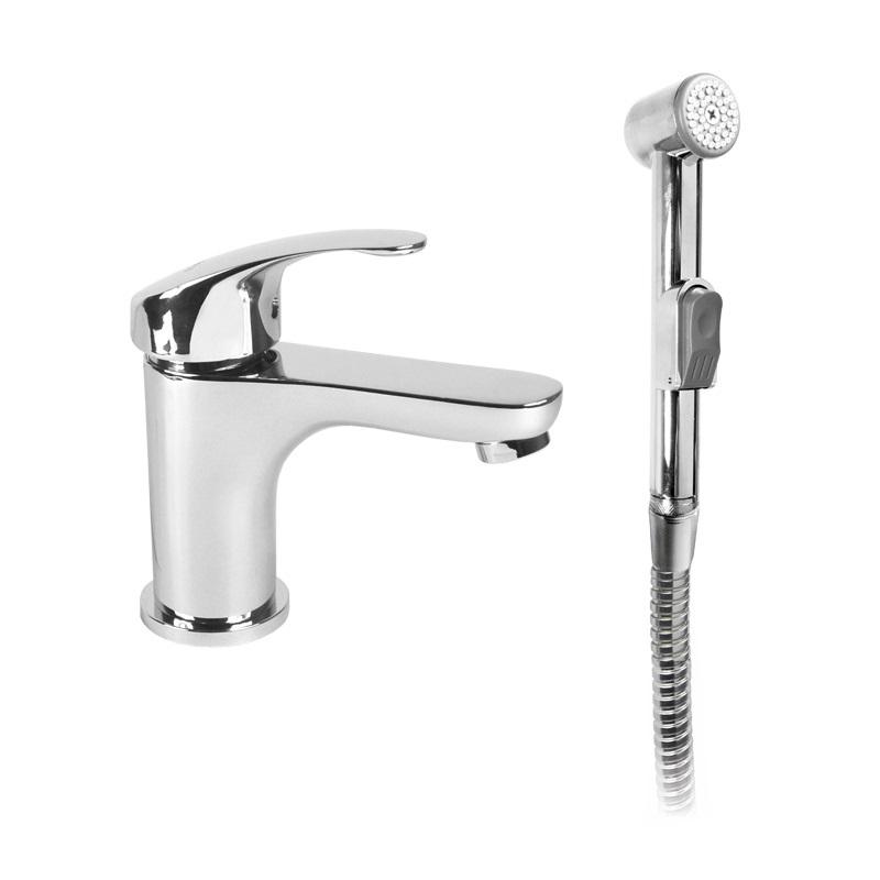 Umývadlová stojanková batéria Sonáta s bidetovou sprchou