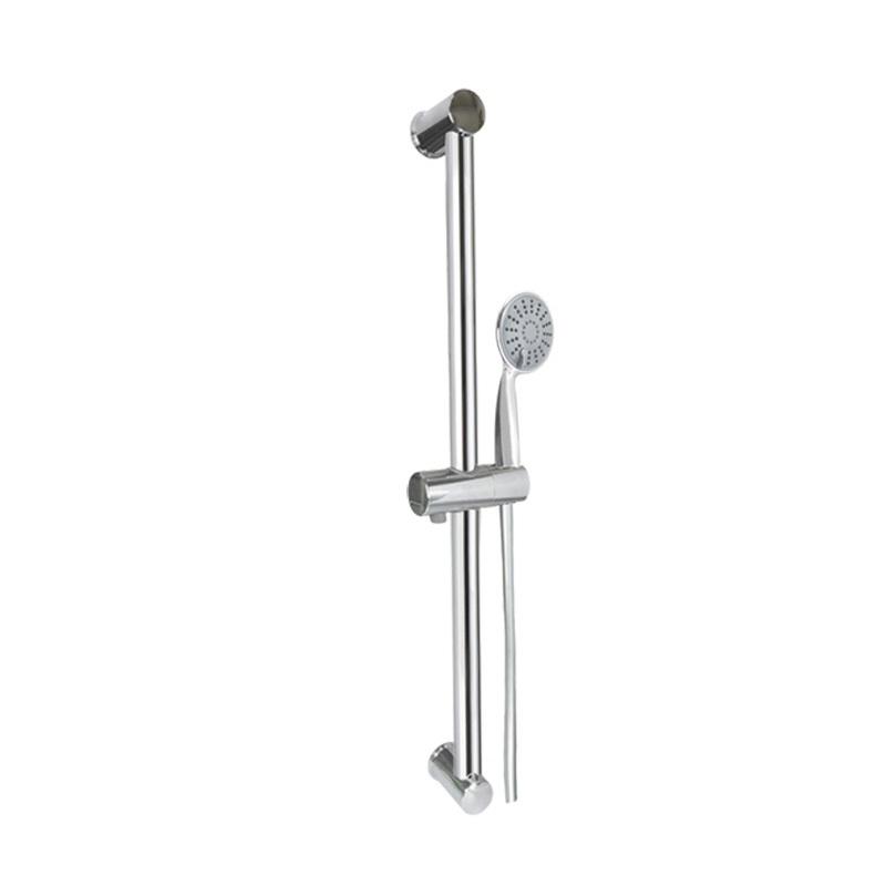 Sprchová súprava, trojpolohová sprcha, šedostrieborná plastová hadica , nastav. držiak, plast/chróm