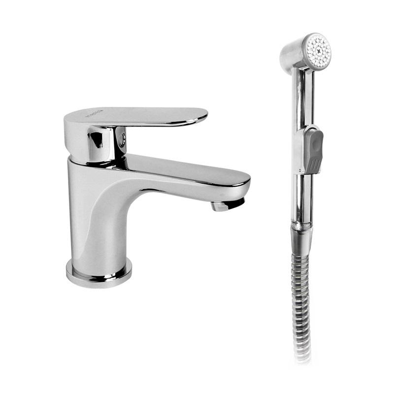 Umývadlová stojanková batéria Viana s bidetovou sprchou