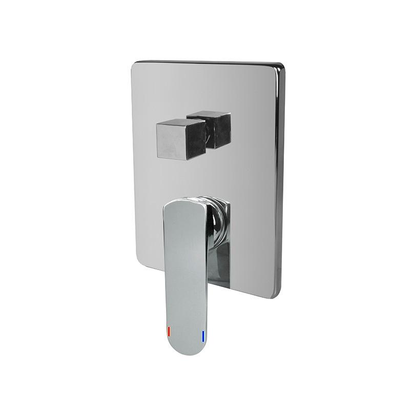 Sprchová podomítková baterie s trojcestným přepínačem, Mada, Mbox, hranatý kryt, chrom (CBQ60157MC)