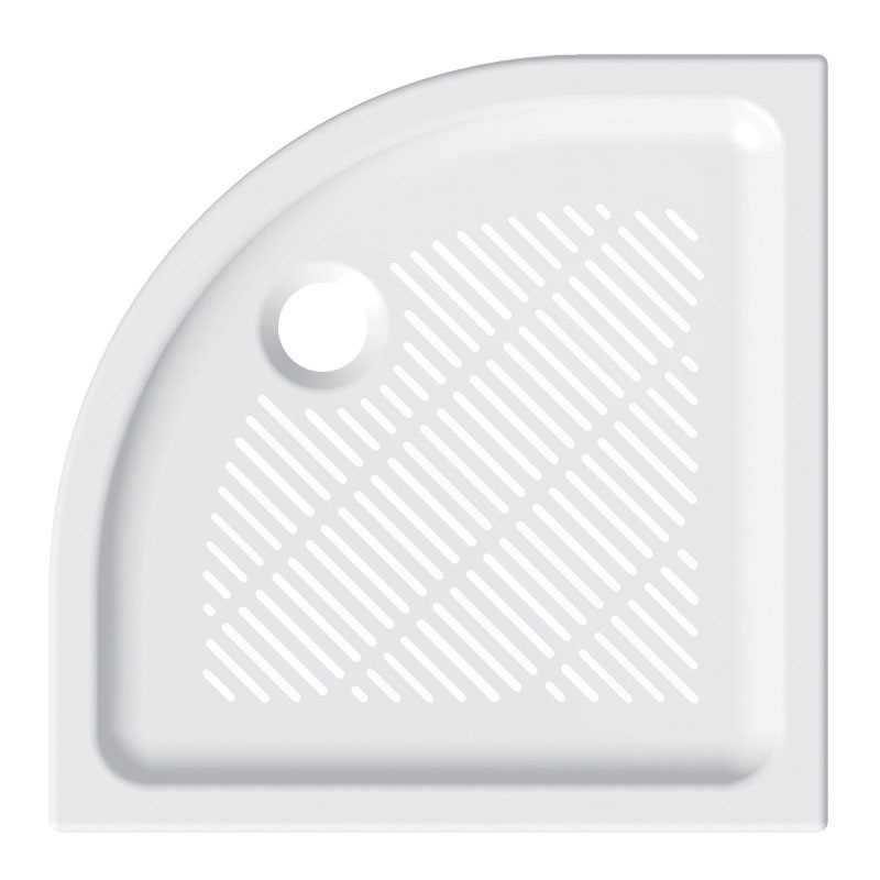 Mereo, Štvrťkruhová sprchová vanička, 90x90x6,5 cm, R550, keramická CV04X