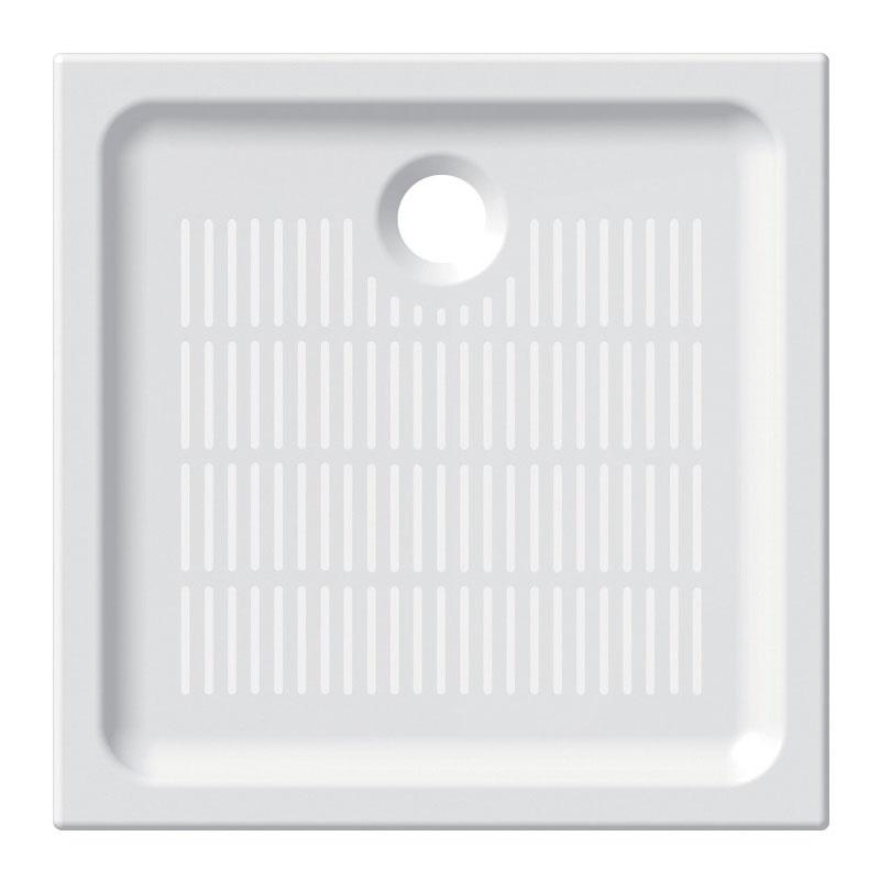 Mereo, Štvorcová sprchová vanička, 80x80x6,5 cm, keramická CV77X