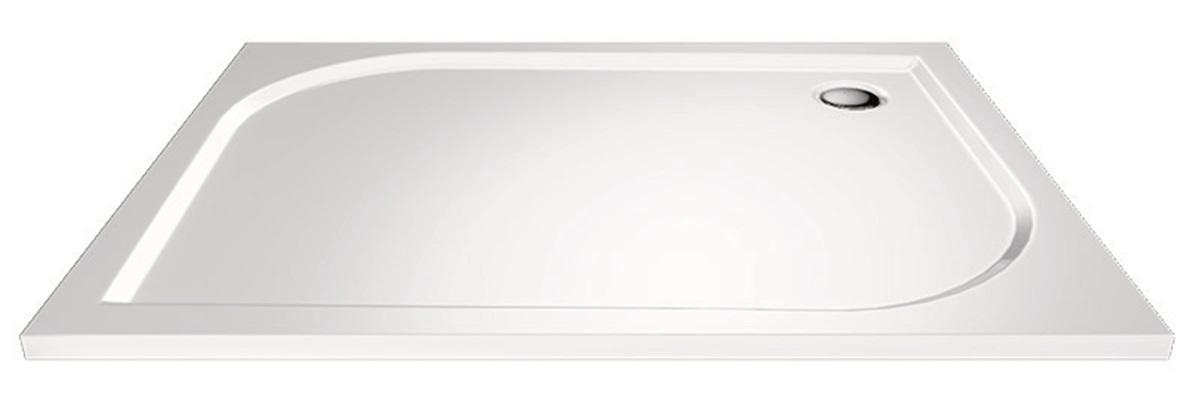 Mereo, Obdĺžniková sprchová vanička, 90x80x3 cm, bez nožičiek, liaty mramor CV74M