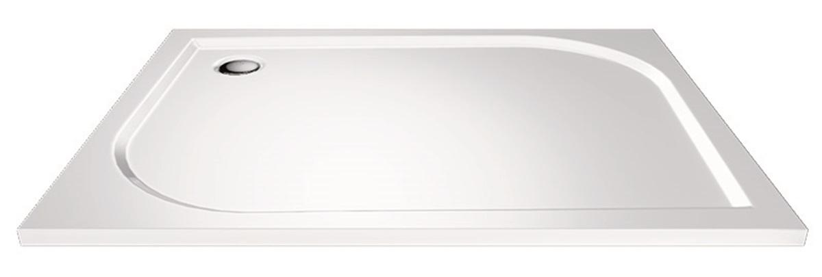 Mereo, Obdĺžniková sprchová vanička, 120x100x3 cm, bez nožičiek, liaty mramor CV81M
