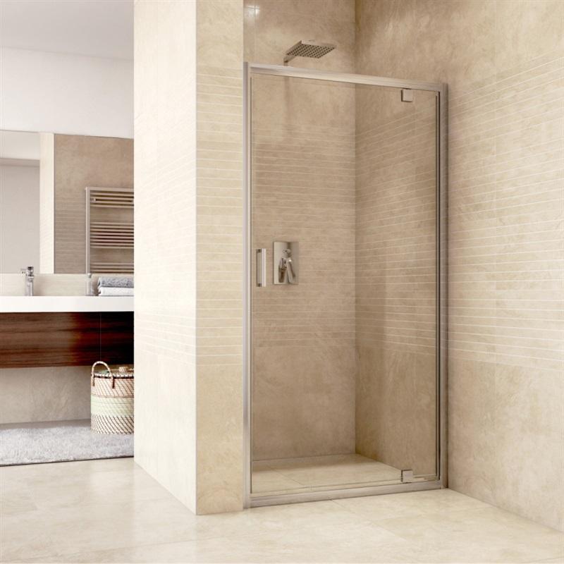 Mereo, Sprchové dvere pivotové, Mistica, 80 cm, chróm ALU, sklo Čiré CK80913H