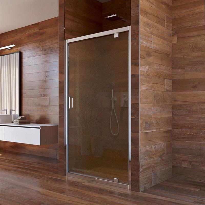 Mereo, Sprchové dvere LIMA, pivotové, 100x190 cm, chróm ALU, sklo Point 6 mm CK80932K