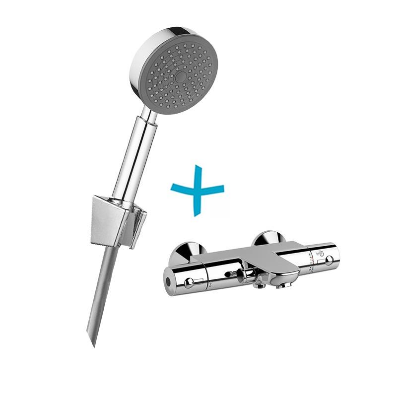 Mereo, Vaňový set: termostatická batéria + sprch. súprava CB469D BTV01
