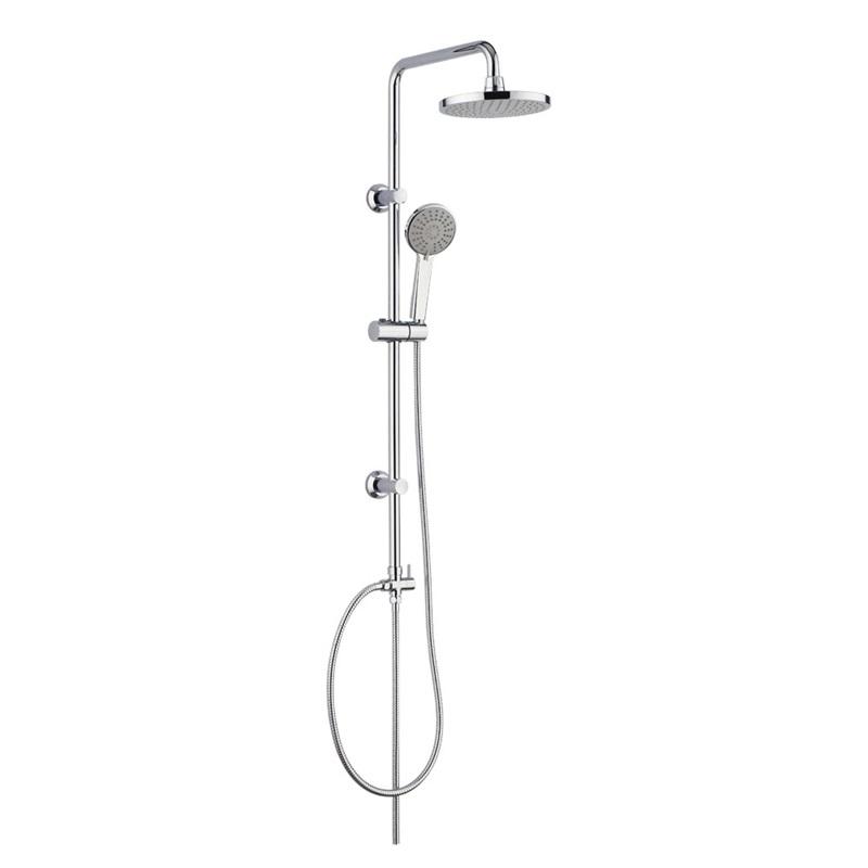 Mereo, Sprchová súprava Sonáta,  plastová hlavová sprcha a tropolohová ručná sprcha CB60101SP