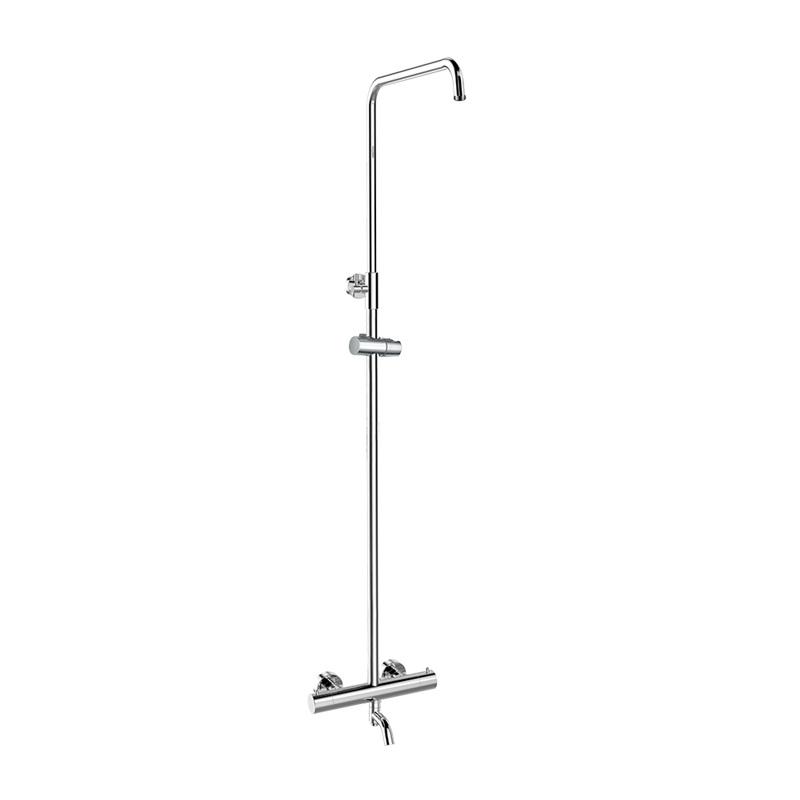 Mereo, Termostatická nástenná vaňová batéria so sprchovou súpravou bez prísl. (tanier, sprcha, hadica) CB60101TS1