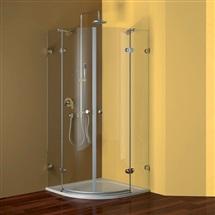 Sprchový set: kout Fantasy, 90x90x190 cm, R550, chrom ALU, sklo Ledové, litá vanička, sifon