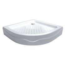 Štvrťkruhová sprchová vanička, R550, akrylátová