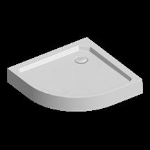 Sprchová vanička R550, 90x90x15 cm, SMC, bílá, včetně nožiček a sifonu pr. 90 mm