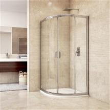 Sprchový kout, Mistica, čtvrtkruh, R550, chrom. profily